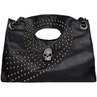 ROMWE | Skull Embellished Rivets Black Bag, The Latest Street Fashion