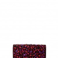 alice + olivia | BE JEWELED CLUTCH - PURPLE COMBO