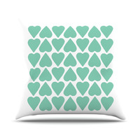 KESS InHouse Up and Down Hearts Throw Pillow