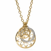 TRIPLE SIGNATURE DISC PENDANT NECKLACE