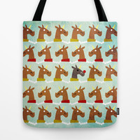 Red Nose Unicorn Tote Bag by That's So Unicorny