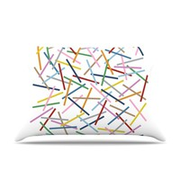 KESS InHouse Sprinkles Fleece Pillow Case