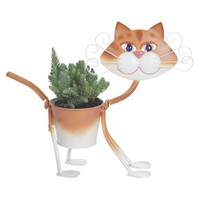 Georgina the Painted Glamour Cat Planter - 11.5""
