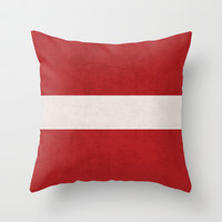 classic - red Throw Pillow by her art