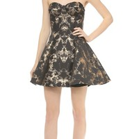 Panel Jacquard Corset Dress
