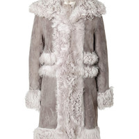Vanessa Bruno - Shearling Coat in Ostrich