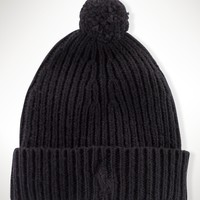Big Pony Rib-Knit Cuffed Hat