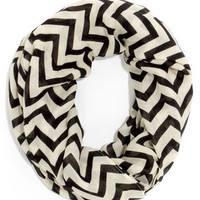Chevron to You Cream and Black Scarf