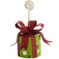 Gift Box Photo Holder - Green