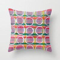 Purple Pattern Throw Pillow by LacyDermy