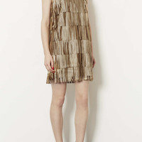 Metallic Tassle PU Dress