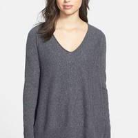 Halogen® Shark Bite Hem Wool & Cashmere Sweater | Nordstrom