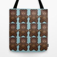 Brown Bear Tote Bag by KCavender Designs