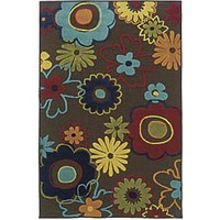 Gwen Bright Flowers All-Weather Indoor/Outdoor Rugs - Plow & Hearth
