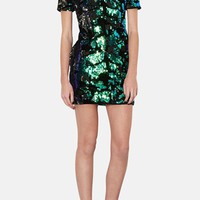 Topshop Sequin Velvet Shift Dress | Nordstrom