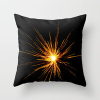Fire Star Throw Pillow by StevenARTify