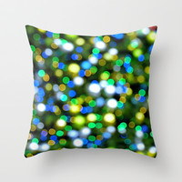 Christmas Tree Pine Lights Throw Pillow by RichCaspian