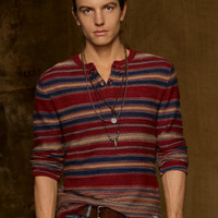 Striped Cotton Henley