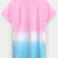ANDCLOTHING — AND.ALSO IcePop Dip Dye Tee