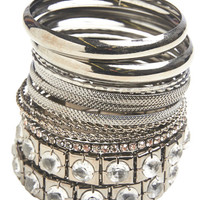 Rhinestone Bangle Set | Wet Seal