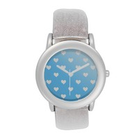 Pretty Blue With White Hearts Watch