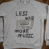 LESS WAR // MORE MUSIC (SWEATER)