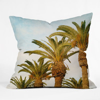 Catherine McDonald Some Place Sunny & Warm PALM TREE Throw Pillow | DENY Designs - 30% off sale code MERRY30