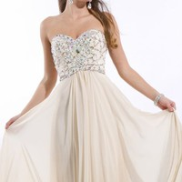 Strapless Chiffon Gown by Princess Collection by Party Time