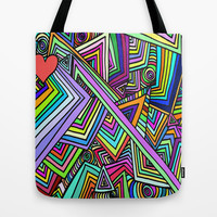 First comes Love, then comes Crazy. Tote Bag by DuckyB (Brandi)