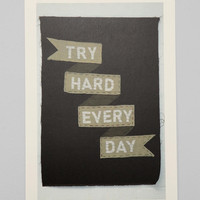 Nous Vous Try Hard Every Day Art Print - Urban Outfitters