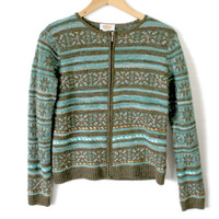 Teal & Brown Fair Isle Ugly Ski Sweater
