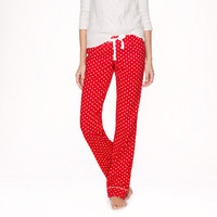 PAJAMA PANT IN POLKA-DOT FLANNEL