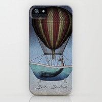 Seek Sanctuary Whales iPhone & iPod Case by Galen Valle