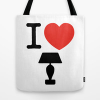I LOVE LAMP Tote Bag by John Medbury (LAZY J Studios)