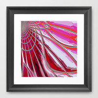 Re-Created Web of Lies2 Framed Art Print by Robert S. Lee