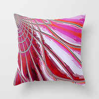 Re-Created Web of Lies2 Throw Pillow by Robert S. Lee
