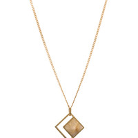 Hudson Plated Pendant in Gold & Rutilated Quartz