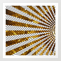 Low Peaks In Gold Art Print by Ornaart