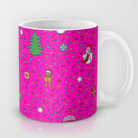 Christmas In Pink Mug by Ornaart
