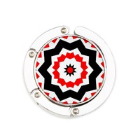 Ruth Olga Red/Black/White Round Purse Hanger