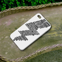Harry Potter Spell White Cover - Iphone 4/4s Iphone 5 and Samsung Galaxy S3