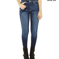 HIGH-RISE DARK WASH JEGGING