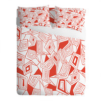 Heather Dutton Fragmented Flame Sheet Set