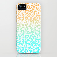 Neon Leopard iPhone & iPod Case by Monika Strigel