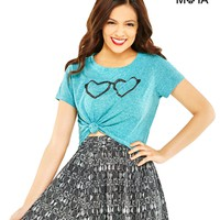 HEART SUNGLASSES GRAPHIC T