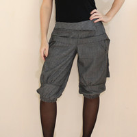 Women Striped Pants Dark Gray shorts for Women