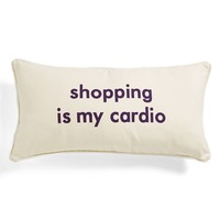 Levtex 'Shopping Is My Cardio' Pillow | Nordstrom