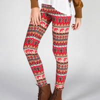 ANGIE Elephant Print Womens Leggings