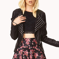High Voltage Faux Leather Jacket