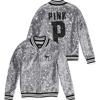 Varsity Jacket in Sequin - PINK - Victoria's Secret